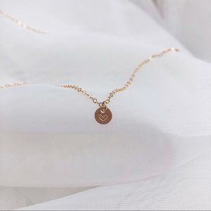 Jewelry - Personalized Initial Necklace, 1 Tiny Disc.